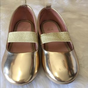 Gold toddler shoes